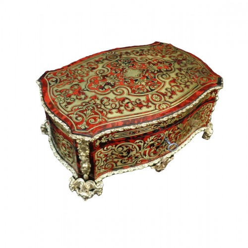 Jewelry Box GRADE in Boulle marquetry Napoleon III period 19th