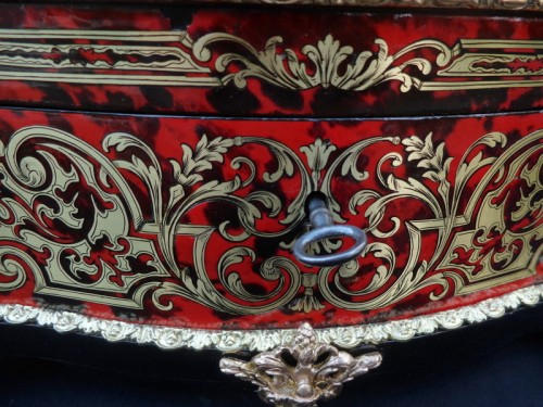Napoléon III - Jewelry Box GRADE in Boulle marquetry Napoleon III period 19th