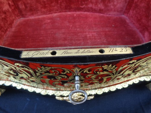 Antiquités - Jewelry Box GRADE in Boulle marquetry Napoleon III period 19th
