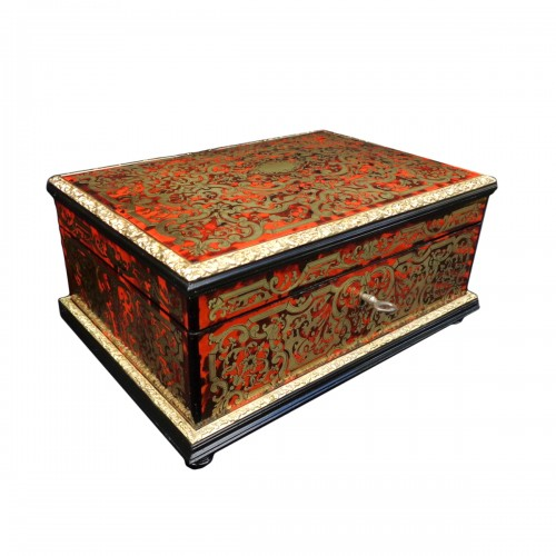 Jewelry Box VERVELLE in Boulle marquetry Napoleon III period 19th