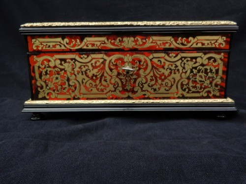 Jewelry Box VERVELLE Napoleon III in Boulle marquetry - Decorative Objects Style Napoléon III