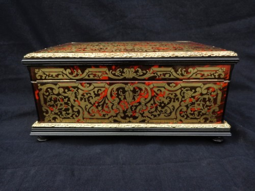 Decorative Objects  - Jewelry Box VERVELLE Napoleon III in Boulle marquetry