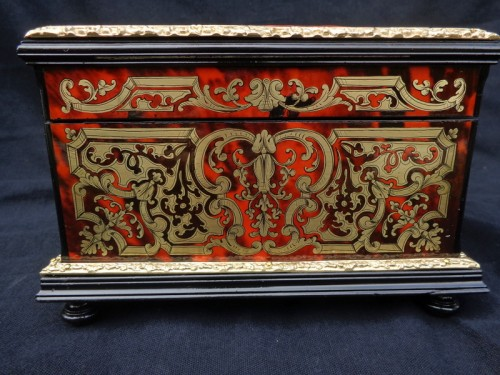 Jewelry Box VERVELLE Napoleon III in Boulle marquetry -