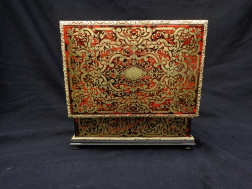 19th century - Jewelry Box VERVELLE Napoleon III in Boulle marquetry