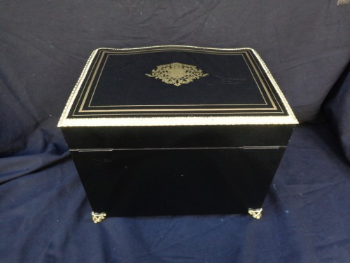 Tantalus Box in Boulle marquetry Napoleon III period  - Decorative Objects Style Napoléon III