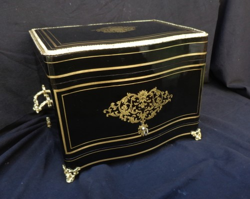 Tantalus Box in Boulle marquetry Napoleon III period  -