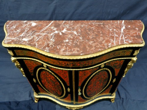Antiquités - Late 19th century Boulle style Cabinet
