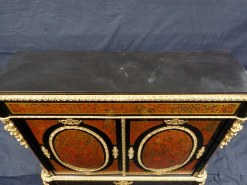 Antiquités - Cabinet in Boulle marquetry 19th opening on 2 doors Napoleon III period