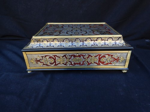 Jewelry Box in Tin Boulle marquetry period 18th - Decorative Objects Style Louis XV