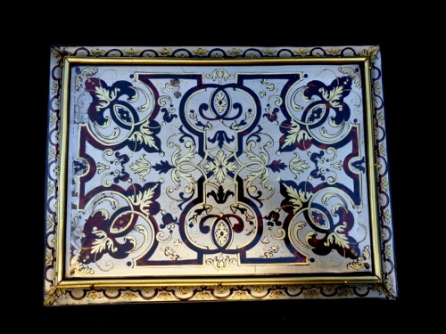 Jewelry Box in Tin Boulle marquetry period 18th -
