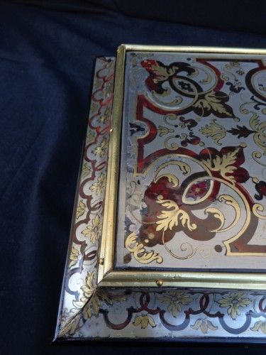 18th century - Jewelry Box in Tin Boulle marquetry period 18th