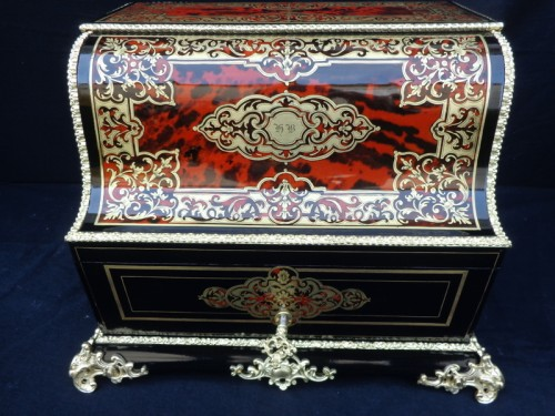 TAHAN à Paris - Tantalus Box in Boulle marquetry Napoleon III period 19th - Decorative Objects Style Napoléon III