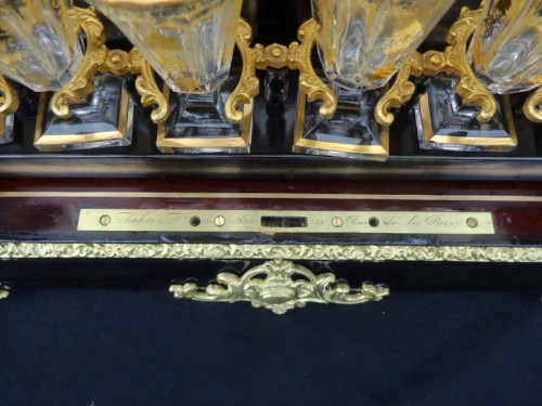 19th century - TAHAN à Paris - Tantalus Box in Boulle marquetry Napoleon III period 19th