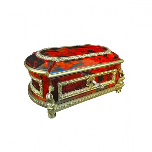 Jewelry Box in Tortoise shell and bronze 19th