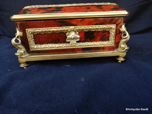 Jewelry Box in Tortoise shell and bronze 19th - Decorative Objects Style Napoléon III