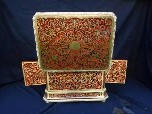 Baccarat crystal Tantalus Box in Boulle marquetry Napoleon III period 19th -
