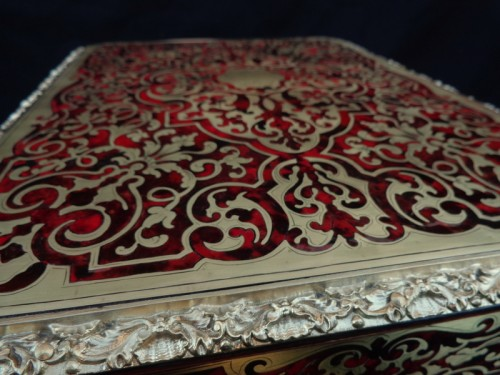 Baccarat crystal Tantalus Box in Boulle marquetry Napoleon III period 19th - Napoléon III