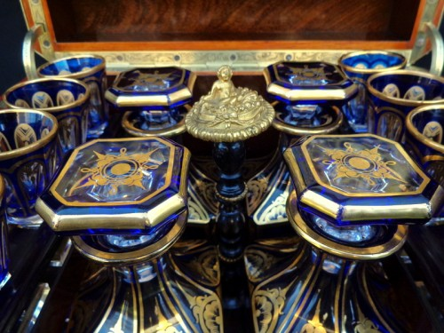 Napoléon III - Baccarat crystal Tantalus Box in Boulle marquetry Napoleon III period 19th