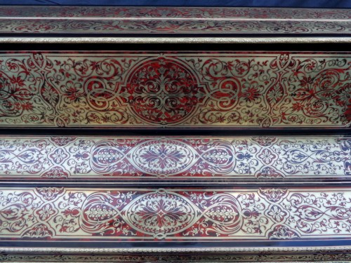 Piano Stamped Kiilerich in marquetry Boulle  late 19th century - Furniture Style Napoléon III