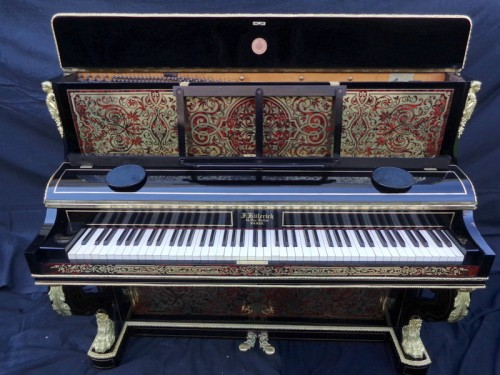 Napoléon III - Piano Stamped Kiilerich in marquetry Boulle  late 19th century