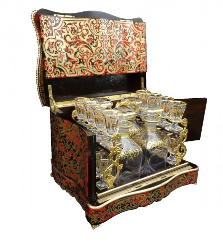 late 19th century Tantalus Box in Boulle marquetry