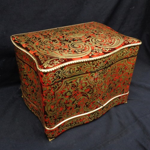 late 19th century Tantalus Box in Boulle marquetry - Decorative Objects Style Napoléon III