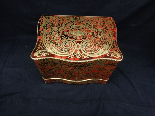 late 19th century Tantalus Box in Boulle marquetry -
