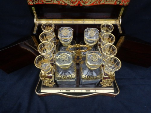 19th century - late 19th century Tantalus Box in Boulle marquetry