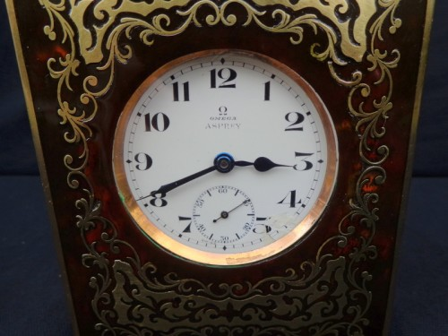 late 19th century  Omega clock in Boulle Box ASPREY marquetry - Clocks Style