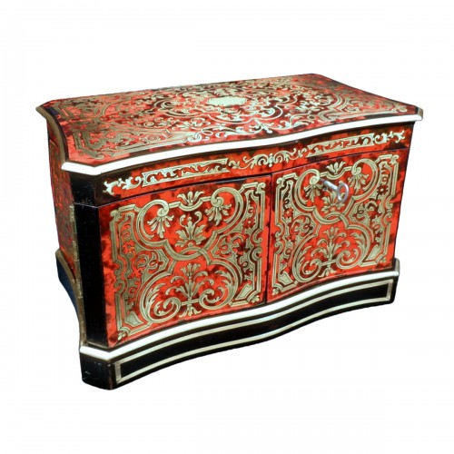 Apothecary Box stamped JENSEN in Boulle style marquetry late 19th century