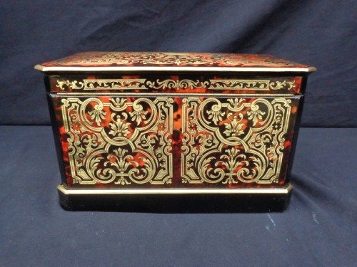 Apothecary Box stamped JENSEN in Boulle style marquetry late 19th century - Objects of Vertu Style Napoléon III