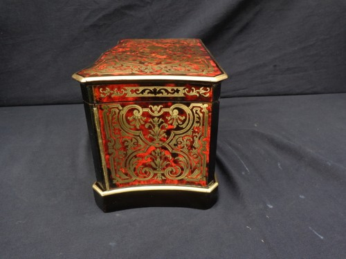 Objects of Vertu  - Apothecary Box stamped JENSEN in Boulle style marquetry late 19th century