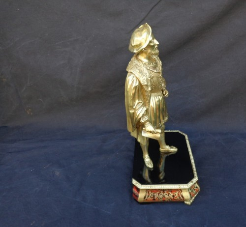 Bronze François 1er with Pedestal in Boulle marquetry 19th Napoleon III per -