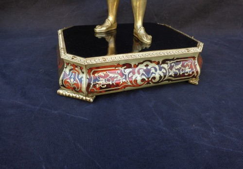 19th century - Bronze François 1er with Pedestal in Boulle marquetry 19th Napoleon III per