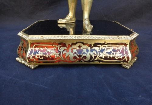 Napoléon III - Bronze François 1er with Pedestal in Boulle marquetry 19th Napoleon III per