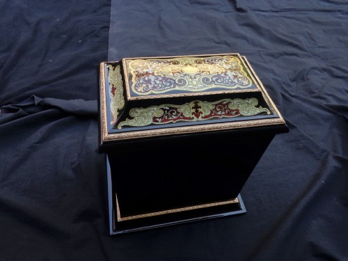 Decorative Objects  -  Tahan - Tantalus Box in Boulle marquetry Napoleon III period 19th