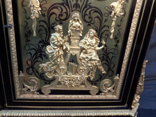 Cabinet Louis XIV stamped Béfort in Boulle Marquetry 19th Napoleon III - Furniture Style Napoléon III