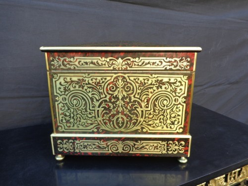 Tantalus Box in Boulle marquetry Napoleon III period 19th - Decorative Objects Style Napoléon III