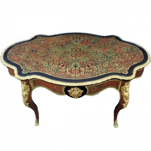 Table in marquetry Boulle 19th Napoléon III period