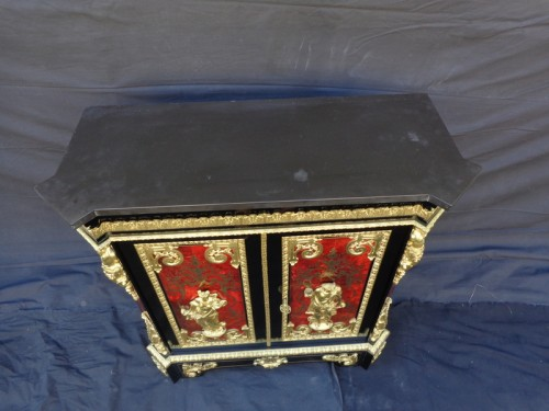 """Furniture  in Boulle marquetry late 19th century signed signé """"Béfort Jeune"""" - Furniture Style Napoléon III"""