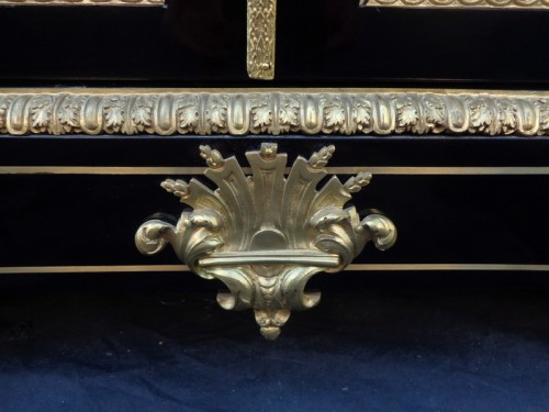 """Napoléon III -  Furniture  in Boulle marquetry late 19th century signed signé """"Béfort Jeune"""""""
