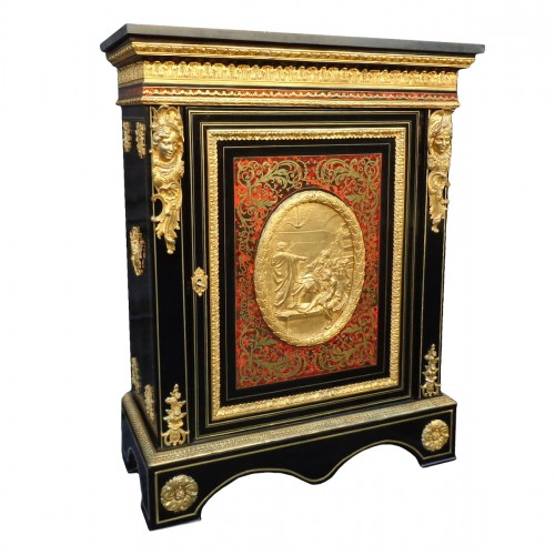 Cabinet in Boulle marquetry 19th Napoléon III