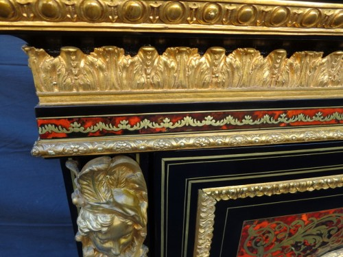 Cabinet in Boulle marquetry 19th Napoléon III - Furniture Style Napoléon III