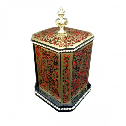 Cigar Carousel 4 doors in Boulle marquetry 19th