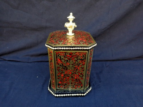 Cigar Carousel 4 doors in Boulle marquetry 19th - Decorative Objects Style Napoléon III