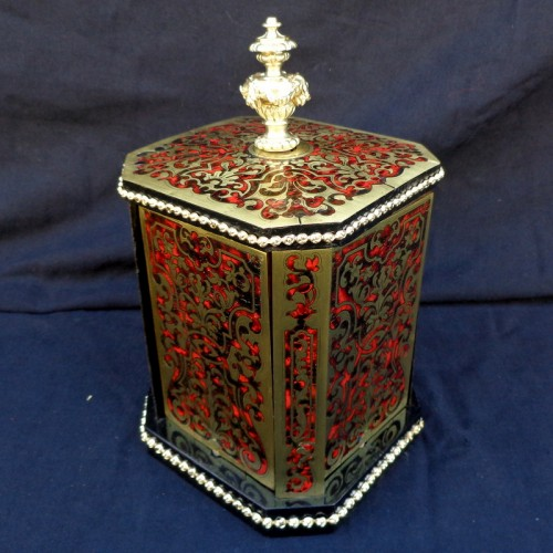 Decorative Objects  - Cigar Carousel 4 doors in Boulle marquetry 19th