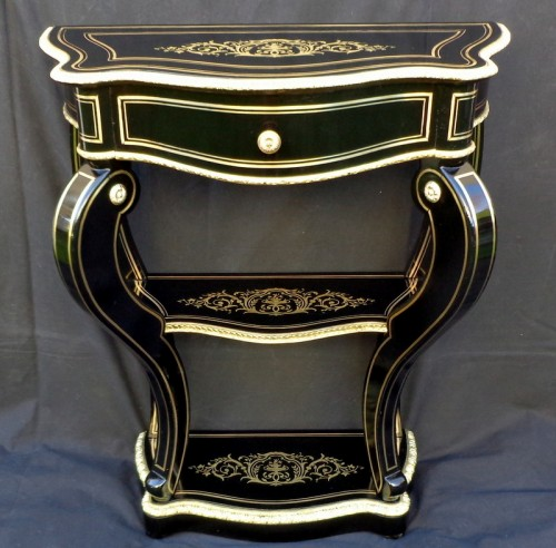 Console in Boulle marquetry 19th Napoleon III period - Furniture Style Napoléon III