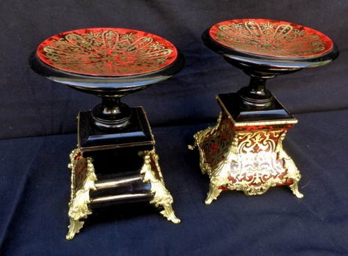 Pair of French Cup in Boulle marquetry Napoléon III period 19th -
