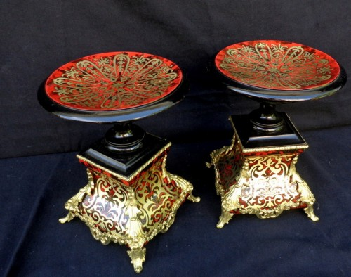 19th century -  Pair of French Cup in Boulle marquetry Napoléon III period 19th