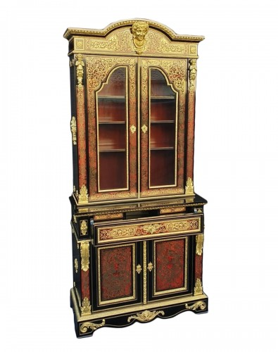 Cabinet secretary in Boulle marquetry late 19th czntury